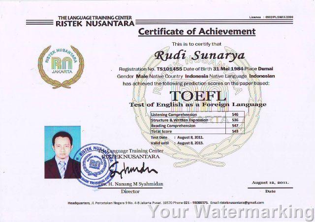 Menerima Pendaftaran Sekolah Sertifikat Toefl 5 087780320246